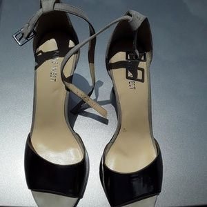 Open toe Nine West heels
